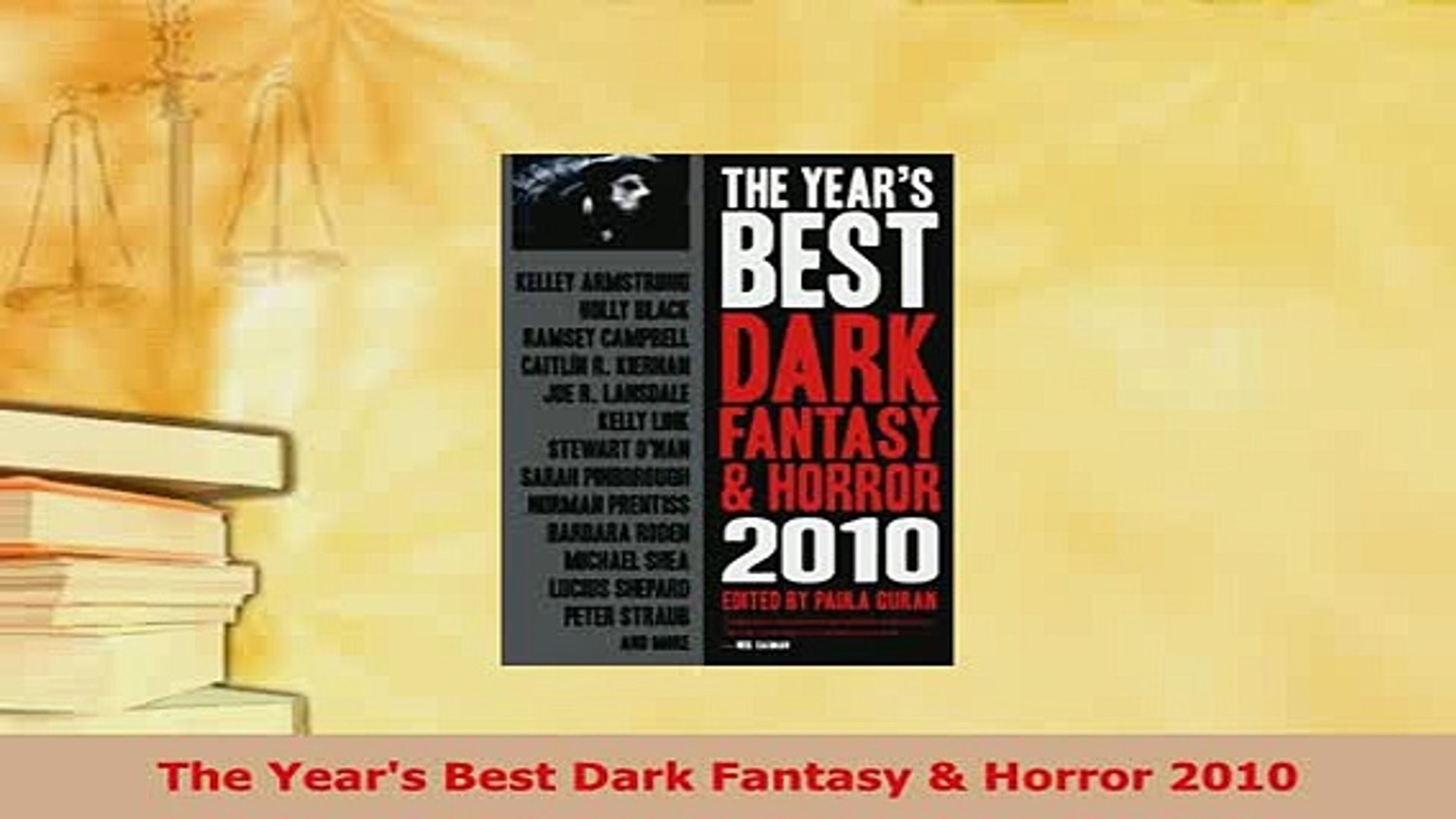 The Years Best Dark Fantasy & Horror 2010