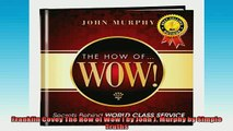 Free PDF Downlaod  Franklin Covey The How of Wow  by John J Murphy by Simple Truths  BOOK ONLINE