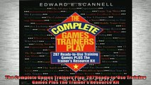 READ book  The Complete Games Trainers Play 287 ReadytoUse Training Games Plus The Trainers  FREE BOOOK ONLINE