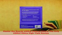 PDF  Master the Boards USMLE Medical Ethics The Only USMLE Ethics HighYield Review Download Online