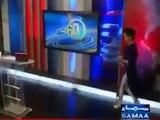 New Video Pakistani news anchor Gharida Farooqi white leggings