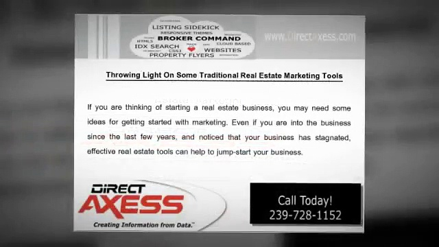 Throwing Light On Some Traditional Real Estate Marketing Tools