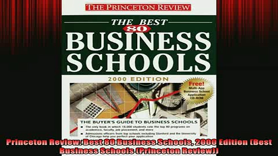 READ book  Princeton Review Best 80 Business Schools 2000 Edition Best Business Schools Princeton Free Online