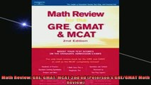 FREE EBOOK ONLINE  Math Review GRE GMAT MCAT 2nd ed Petersons GREGMAT Math Review Full EBook