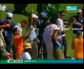 Muhammad Amir 5 wickets in over vs Austrila