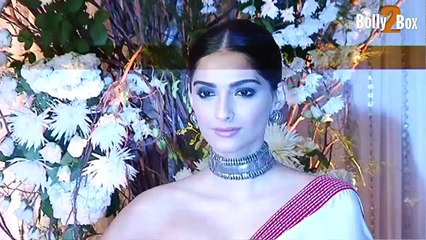 Sonam Kapoor At Bipasha Basu and Karan Singh Grover s Wedding Reception
