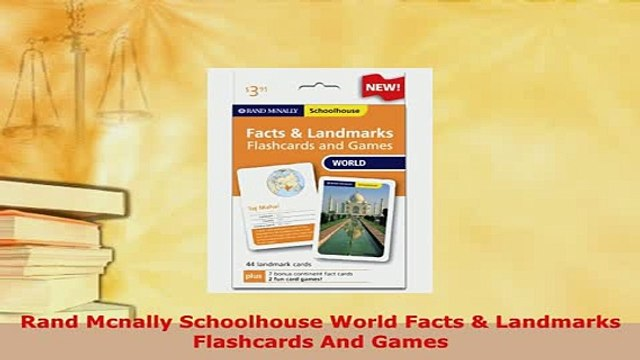 Download  Rand Mcnally Schoolhouse World Facts  Landmarks Flashcards And Games Free Books