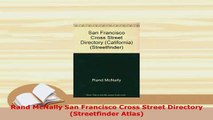 PDF  Rand McNally San Francisco Cross Street Directory Streetfinder Atlas PDF Online