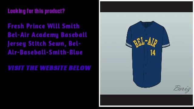 Fresh Prince Will Smith Bel-Air Academy Baseball Customize Jersey blue