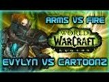 "Evylyn vs Cartoonz Legion Alpha Arms Warrior vs Fire mage duels ""Double blink WTF"" WOW PVP duels"