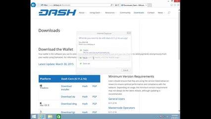Dash: Кошелёк Dash для Windows - Инструкция по установке
