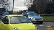 Alle PKW bleiben stehen ! Polizei Gelsenkirchen eskortiert Fanbusse & Durchsage FuStW