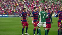 Real Betis Balompie vs FC Barcelona Liga BBVA Jornada 36 2016 Simulacio_n Fifa 16