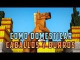 TRUCOS MINECRAFT - TRUCO/TUTORIAL PARA DOMESTICAR CABALLOS Y BURROS Trucos