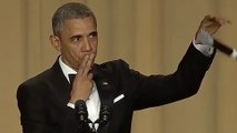 """President Obama Impersonates Kobe Bryant at Correspondents' Dinner, Says """"Obama Out'"""" With Mic Drop"""