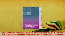 PDF  Corrections Nursing Scope and Standards of Practice Scope Standards Statements PDF Book Free