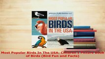 PDF  Most Popular Birds In The USA Childrens Picture Book of Birds Bird Fun and Facts Download Online