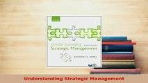 PDF  Understanding Strategic Management PDF Online