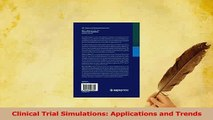 Read  Clinical Trial Simulations Applications and Trends Ebook Free