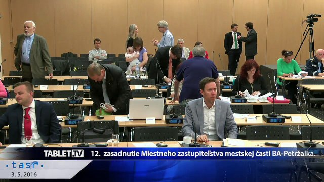 ZAZNAM: 12. zasadnutie Miestneho zastupitelstva MS Bratislava-Petrzalka 2016-05-03 (4)