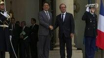 Le Premier ministre japonais reçu à l'Elysée