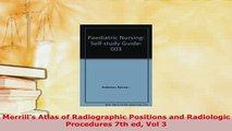 Download  Merrills Atlas of Radiographic Positions and Radiologic Procedures 7th ed Vol 3 Ebook