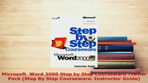Download Microsoft FrontPage 2000 Step by Step Courseware Trainer