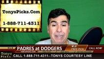 San Diego Padres vs. LA Dodgers Pick Prediction MLB Baseball Odds Preview 5-1-2016