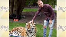 Justin Bieber Hangs with a Tiger (and the Batmobile) at His Dad's Engagement Party