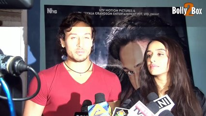 Tiger Shroff and Shraddha Kapoor At The Screening Of Baaghi