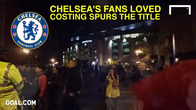 Football fans can be cruel... How Chelsea FC fans reacted to Tottenham losing the league title to Leicester