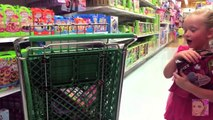 Giant Surprise Egg 1   Barbie, Monster High, Peppa Pig, and Play Doh   Toys R Us Shopping Spree