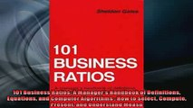 READ book  101 Business Ratios A Managers Handbook of Definitions Equations and Computer Algorithms  FREE BOOOK ONLINE