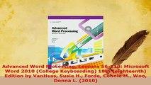 PDF  Advanced Word Processing Lessons 56110 Microsoft Word 2010 College Keyboarding 18th  EBook