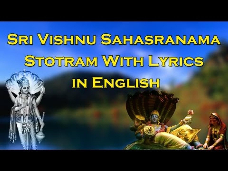 Sri Vishnu Sahasranama Stotram (Dhyanam, Vishnu Sahasranama Stotram &  Phalasruthi) Official Video