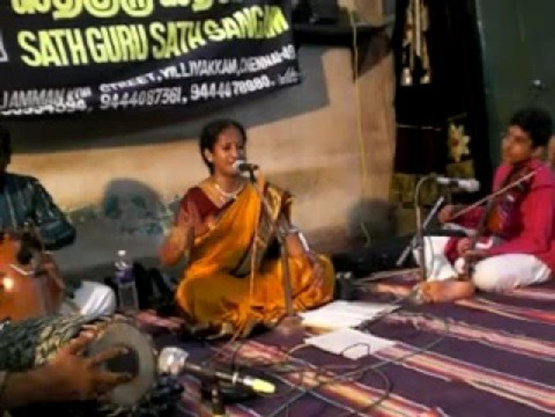 13 - Jagadeeswari - Krithi on ragam Mohanam - Sathya on Violin for Smt   Lalitha Krishnababu 6th Oct'08