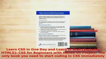 PDF  Learn CSS in One Day and Learn It Well Includes HTML5 CSS for Beginners with Handson Free Books