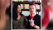 Verona Pooth küsst Reporter beim Interview
