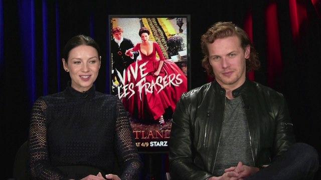 """IR Interview: Caitriona Balfe & Sam Heughan For """"Outlander"""" [Starz-S2]"""
