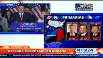 Ted Cruz acepta su derrota y se retira de la contienda republicana a la Presidencia de EE.UU.