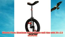 Koxx Midnight Trials Unicycle Red 22.86cm/20-Inch