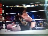 Undertaker locks in the Hell's Gate on CM Punk during their WrestleMania 29 match.