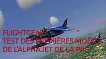 Flightgear:test des modifs de l'Alphajet de la patrouille-de-France.