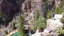 Drone over hanging lake Colorado