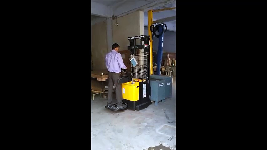 Electric Stacker   Full Electric Stacker   Electric Stacker Operation Video