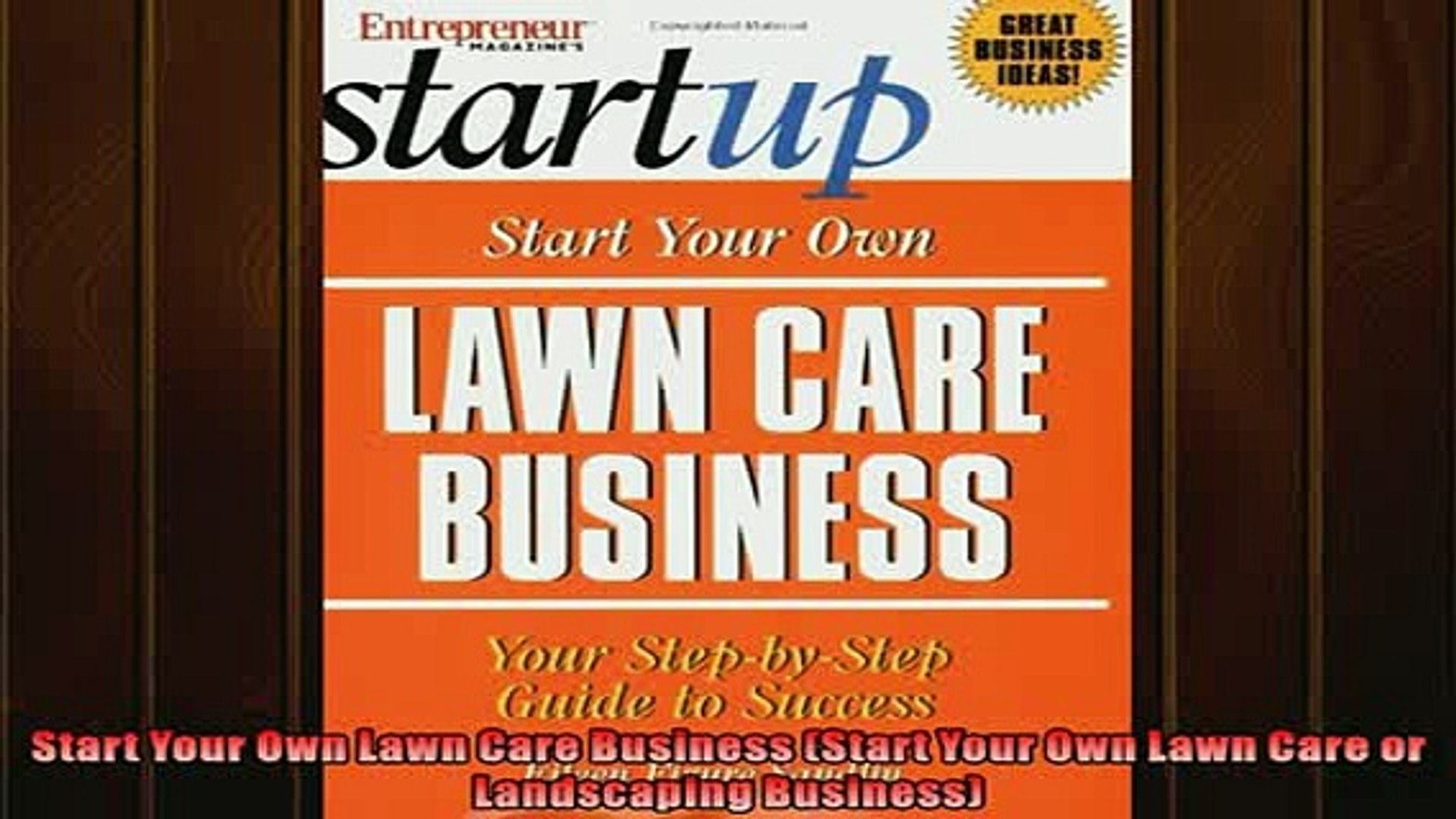 Free Start Your Own Lawn Care Business Or Landscaping Boook Online