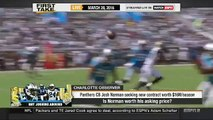 First Take Today | ESPN FIRST TAKE (3/28/2016):PANTHERS' JOSH NORMAN HAS GONE FROM TRASHING DEZ BRY
