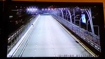 CCTV footage of the guy who crossed the track at the Singapore GP