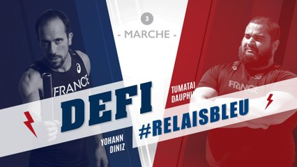 Défi #Relaisbleu n°3 | Yohann Diniz & Tumatai Dauphin