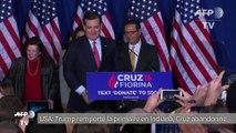 """Primaires américaines: face à Trump, Ted Cruz """"suspend sa campagne"""""""